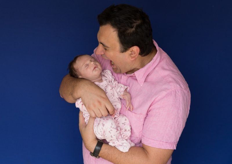 daddy with the newborn