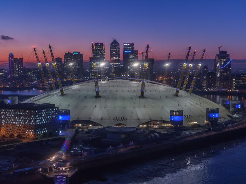 3rd place O2 Arena at sunset